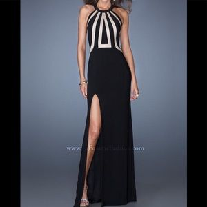 LA FEMME black & Nude dress brand new with tags
